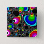 Globular Rainbow - Fractal Pinback Button