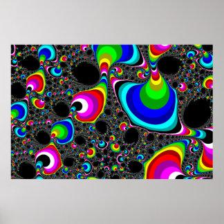 Globular Rainbow - Fractal Poster