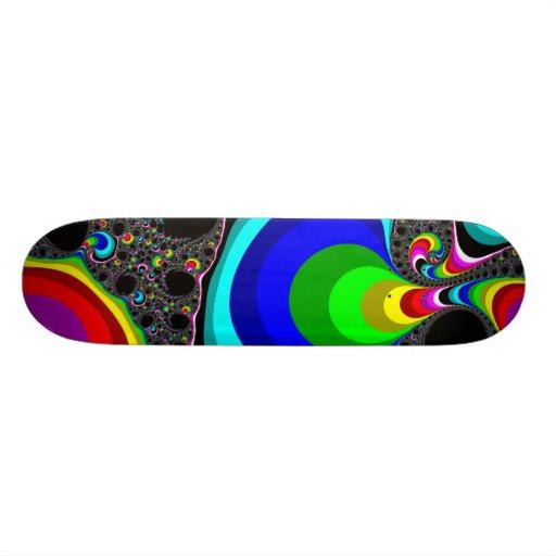 Globular Rainbow - Fractal Skate Deck