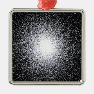 Globular Star Cluster in Space Metal Ornament