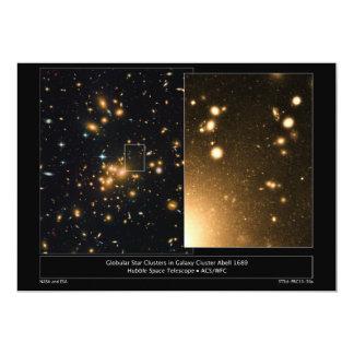 "Globular Star Clusters Galaxy Cluster Abell 1689 5"" X 7"" Invitation Card"