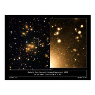 Globular Star Clusters Galaxy Cluster Abell 1689 Postcards