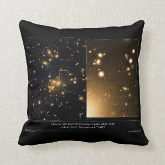 Globular Star Clusters Galaxy Cluster Abell 1689 Throw Pillow