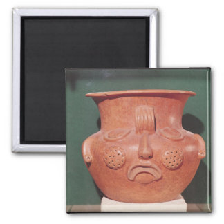 Globular vase with a face, from Kalminaljuy 2 Inch Square Magnet