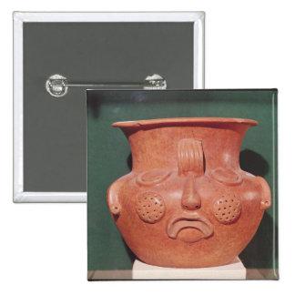 Globular vase with a face, from Kalminaljuy Pinback Button