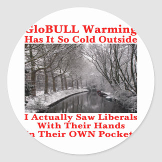 GloBULL Warming Has It So Cold Outside #1 Classic Round Sticker