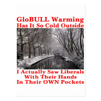 GloBULL Warming Has It So Cold Outside #1 Postcard