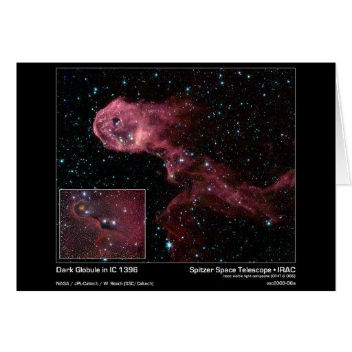 Glóbulo oscuro en IC 1396 - telescopio espacial de Tarjeta De Felicitación