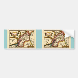 """Glocestershire"" Gloucestershire County Map Car Bumper Sticker"