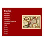"""""""Glocestershire"""" Gloucestershire County Map Large Business Cards (Pack Of 100)"""
