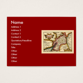 """Glocestershire"" Gloucestershire County Map Business Card"