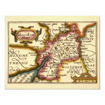"""""""Glocestershire"""" Gloucestershire County Map 4.25x5.5 Paper Invitation Card"""