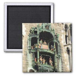 glockenspiel del rathaus de los neues de Munich Imán Cuadrado