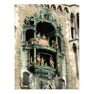 glockenspiel del rathaus de los neues de Munich Postales