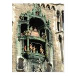 glockenspiel del rathaus de los neues de Munich Tarjetas Postales
