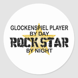 Glockenspiel Rock Star by Night Classic Round Sticker