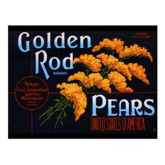 Gloden Rods Pears Post Card