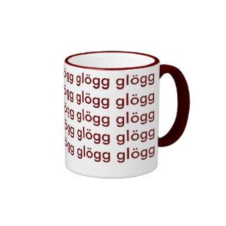 Glogg Glogg Glogg Funny Scandinavian Ringer Coffee Mug