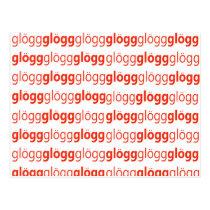 Glogg Glogg Glogg Funny Swedish Postcard