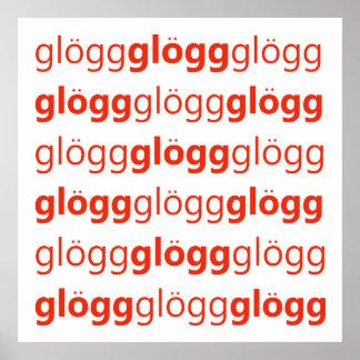 Glogg Glogg Glogg Funny Swedish Poster