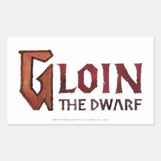 Gloin Name Rectangle Sticker