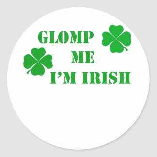 Glomp me I'm Irish - 2 Classic Round Sticker