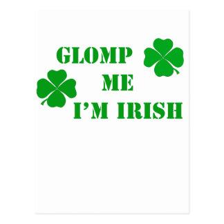 Glomp me I'm Irish - 2 Postcard