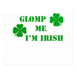 Glomp me I'm Irish - 2 Postcard