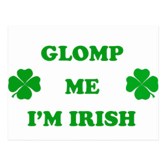 Glomp me I'm Irish Postcard