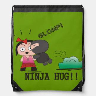 """Glomp"" Stringbag - A Nawty Ninja Design Drawstring Backpack"