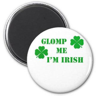 Glomp yo soy irlandés - 2 imán redondo 5 cm