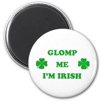 Glomp yo soy irlandés imán redondo 5 cm