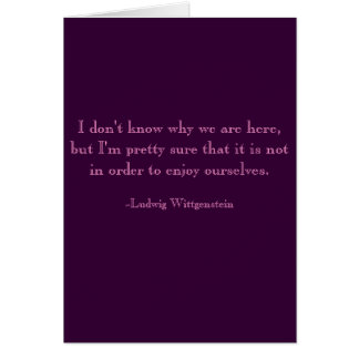 Gloomy Birthday Card, Wittgenstein Card
