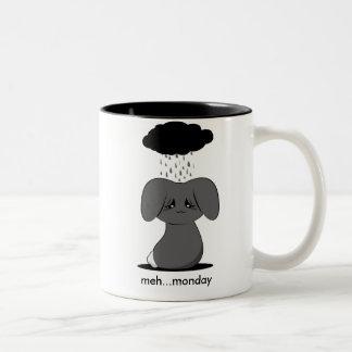 Gloomy Bunny Two-Tone Coffee Mug