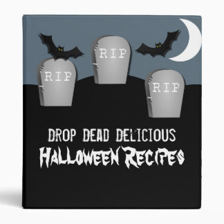 Gloomy Graveyard Halloween Binder (1 inch)