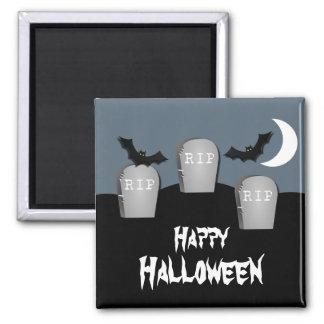 Gloomy Graveyard Halloween Magnet