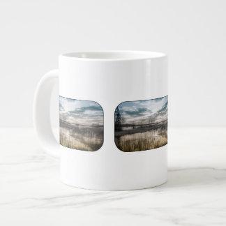 Gloomy lake giant coffee mug