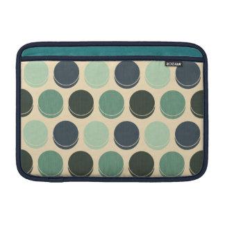 Gloomy Ocean Trendy Polka Dot Pattern MacBook Sleeve