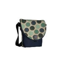 Gloomy Ocean Trendy Polka Dot Pattern Messenger Bag