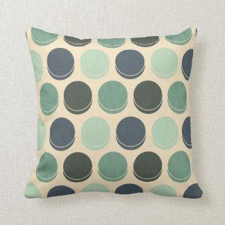 Gloomy Ocean Trendy Polka Dot Pattern Throw Pillow