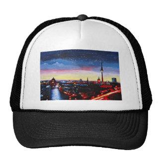 Gloomy Skyline Of Berlin Germany with Stars Trucker Hat