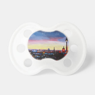 Gloomy Skyline Of Berlin Germany with Stars BooginHead Pacifier