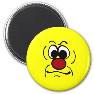 Gloomy Smiley Face Grumpey Magnet