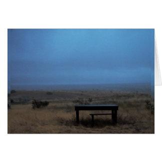 Gloomy Table, Santa Fe, NM Card