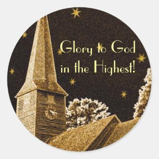 ¡Gloria a dios en el más alto! Pegatina Redonda