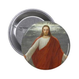GLORIA A JESÚS PIN REDONDO DE 2 PULGADAS