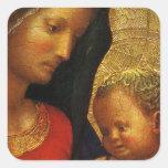 GLORIA A JESÚS Y A MARIA CALCOMANIA CUADRADAS
