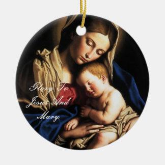 gloria a Jesús y a Maria Ornaments Para Arbol De Navidad