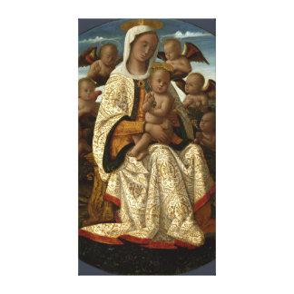 GLORIA A JESÚS Y A MARIA IMPRESIONES DE LIENZO