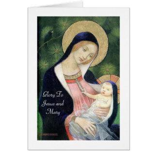 Gloria a Jesús y a Maria Tarjeta Pequeña
